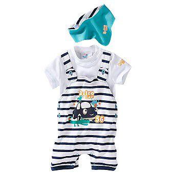 Комплект для новорожденного. Ползунки, футболка и бандана на шею. ЗМ2274